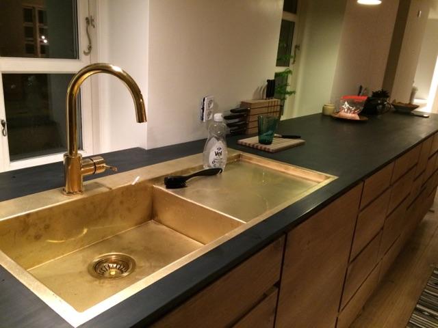 Usædvanlig Messing vask - specialfremstillet - Design Smedien JL33