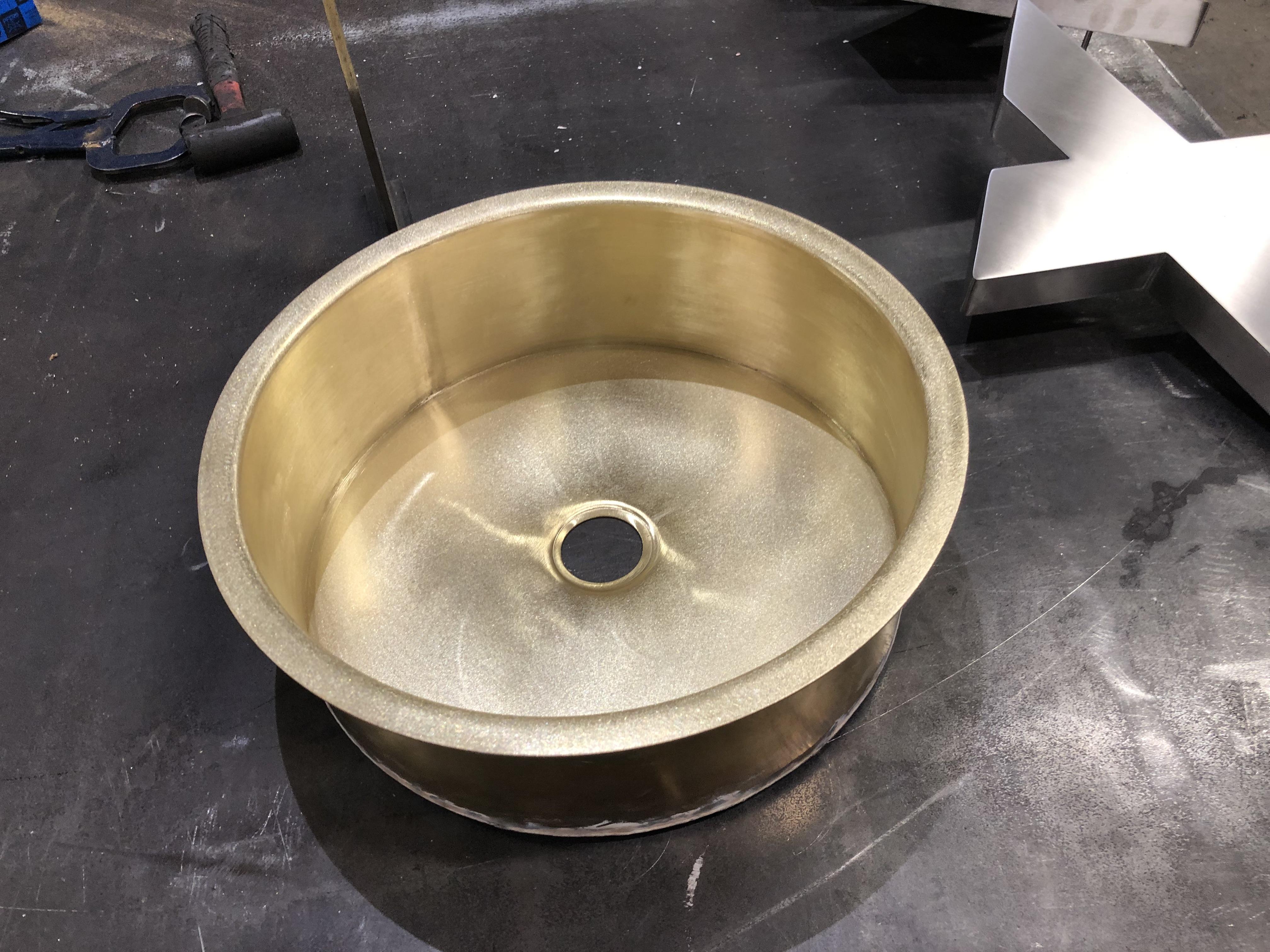 Messingvask rund